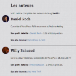 Liste d'auteurs sur WordPress