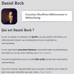 Description d'un auteur sur WordPress